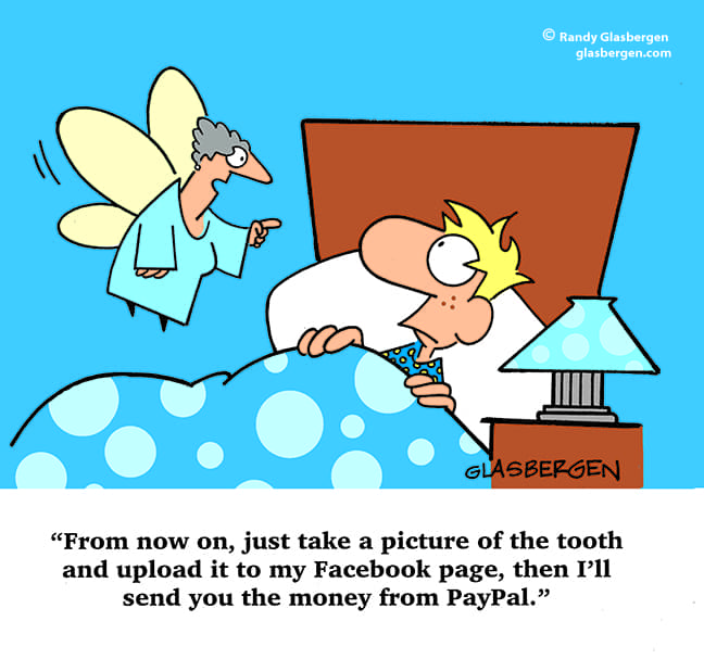 A cartoon of the tooth fairy by Randy Glasbergen