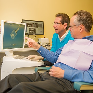 Dr. Silberman offering same-day CEREC crowns for a patient