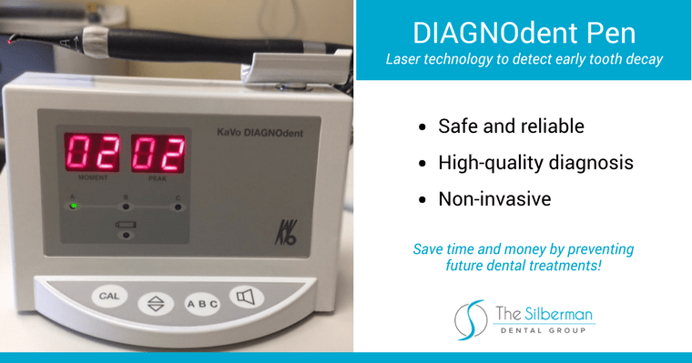 Our DIAGNOdent diagnostic tool helps your Waldorf dentist detect cavities before an x-ray