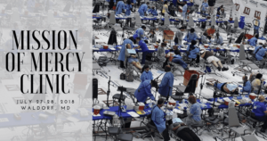 Waldorf dentists volunteering at The Southern Maryland Mission of Mercy, July 27-28, 2018
