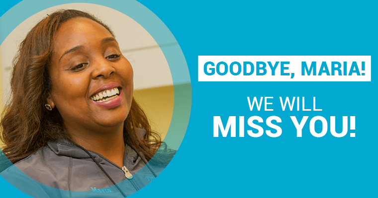 Goodbye, Maria! We will miss you!