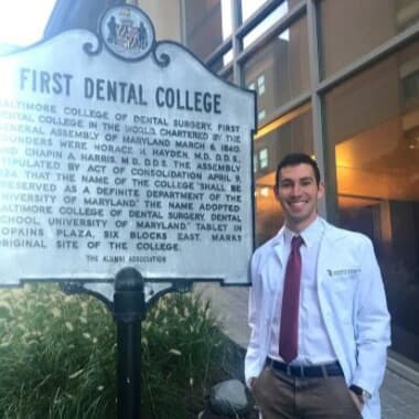 Dr. Daniel Barakh at the first dental college representing continuing education