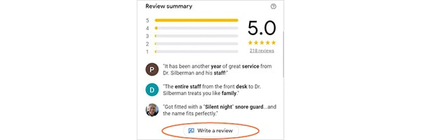 How to write a review on Google step 3